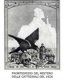 FRONTESPIZIO DEL MISTERO DELLE CATTEDRALI DEL 1926